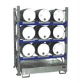 Fassregal 3004 Grundregal mit 3 Ebenen für 9 liegende 60l Fässer | günstig bestellen bei assistYourwork