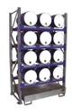 Fassregal 3006 Grundregal mit 4 Ebenen für 12 liegende 60l Fässer | günstig bestellen bei assistYourwork