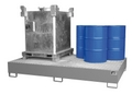 Auffangwanne AW 1000-10F, VERZINKT, für 2 1000l IBCs oder 10 200l Fässer | günstig bestellen bei assistYourwork