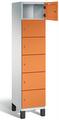 Fächerschrank S 6000 CAMBIO, 6 Fächer hoch, 6x1 Abteil á 400mm, Stahltüren einwandig | günstig bestellen bei assistYourwork