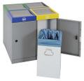Abfall-Station ProTec-Plus 607-030-0-2-040 4-fach Station, 4x30 Liter | günstig bestellen bei assistYourwork