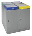 Abfall-Station ProTec-Plus 607-070-0-2-040 4-fach Station, 4x70 Liter | günstig bestellen bei assistYourwork