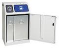 Abfalltrennung Duplex 635-075-0-2-400 2-fach Sammler, 1x30 l und 1x60 l | günstig bestellen bei assistYourwork