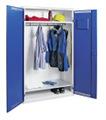 Garderobenschrank 7948007, HxBxT 1800x1000x500mm, 2 verzinkte Fachböden, Garderobenstange | günstig bestellen bei assistYourwork