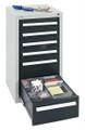 Schubladenschrank Serie T100-35, 8151571 6 Schubladen mit Teleskopauszügen | günstig bestellen bei assistYourwork