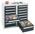 Schubladenschrank Serie T100-35, 8152271 14 Schubladen mit Teleskopauszügen | günstig bestellen bei assistYourwork
