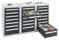 Schubladenschrank Serie T100-35, 8153271 21 Schubladen mit Teleskopauszügen | günstig bestellen bei assistYourwork