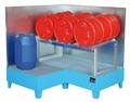 Eckwanne EW-3, verzinktt, verzinkter Gitterrost, für 3 200-l-Fässer | günstig bestellen bei assistYourwork