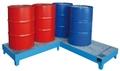 Eckwanne EW-5, lackiert, verzinkter Gitterrost, für 5 200-l-Fässer | günstig bestellen bei assistYourwork