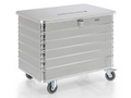 G®-DOCU Entsorgungsbehälter D 3009-415 E1HS, 415 l, fahrbar, mit Scharnierdeckel und Einwurfschlitz | günstig bestellen bei assistYourwork