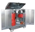 Gefahrstoff-Depot GD-N 2, verzinkt für 2 Fässer á 200 l | günstig bestellen bei assistYourwork