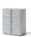 Schließfachschrank YELD0810 6 Türen - 4 x H 267 & 2 x H 304mm | günstig bestellen bei assistYourwork