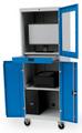 Mobiler Computerschrank 04.118.003AM BxTxH 680x736x1988mm, mit Rollenuntersatz | günstig bestellen bei assistYourwork