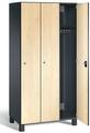 Spind S7000 Prefino, 3 Abteile á 300mm, mit HPL-Dekor - Fronten  | günstig bestellen bei assistYourwork