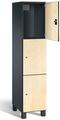 Spind S 7000 Prefino - 3 Fächer übereinander, 3x1 Abteil á 400mm, mit HPL-Dekortüren | günstig bestellen bei assistYourwork
