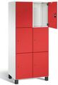 Spind S 7000 Prefino - 3 Fächer übereinander, 3x2 Abteile á 400mm, mit Stahltüren | günstig bestellen bei assistYourwork