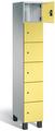Fächerschrank S 7000 Prefino - 6 Fächer übereinander, 6x1 Abteil á 300mm, mit Stahltüren | günstig bestellen bei assistYourwork