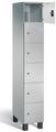 Fächerschrank S 7000 Prefino - 6 Fächer übereinander, 6x1 Abteil á 300mm, mit Glastüren | günstig bestellen bei assistYourwork
