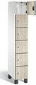 Spind S 7000 Prefino - 6 Fächer übereinander, 6x1 Abteil á 300mm, mit HPL-Dekortüren | günstig bestellen bei assistYourwork