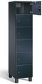 Fächerschrank S 7000 Prefino - 6 Fächer übereinander, 6x1 Abteil á 400mm, mit Glastüren | günstig bestellen bei assistYourwork
