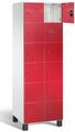 Fächerschrank S 7000 Prefino - 6 Fächer übereinander, 6x2 Abteile á 300mm, mit Glastüren | günstig bestellen bei assistYourwork