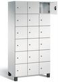 Fächerschrank S 7000 Prefino - 6 Fächer übereinander, 6x3 Abteile á 300mm, mit Stahltüren | günstig bestellen bei assistYourwork