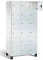 Fächerschrank S 7000 Prefino - 6 Fächer übereinander, 6x3 Abteile á 300mm, mit Glastüren | günstig bestellen bei assistYourwork