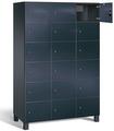 Fächerschrank S 7000 Prefino - 6 Fächer übereinander, 6x3 Abteile á 400mm, mit Glastüren | günstig bestellen bei assistYourwork