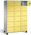 Fächerschrank S 7000 Prefino - 6 Fächer übereinander, 6x3 Abteile á 400mm, mit Stahltüren | günstig bestellen bei assistYourwork