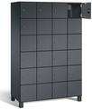 Fächerschrank S 7000 Prefino - 6 Fächer übereinander, 6x4 Abteile á 300mm, mit Stahltüren | günstig bestellen bei assistYourwork