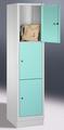 Schließfachschrank 8020-123, mit Sockel 3 Fächer, Abteilbreite 400mm, | günstig bestellen bei assistYourwork