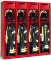 Evolo Feuerwehrschrank 1-100447, mit Füße, 4 Abteile, Wertfach und klappbarer Helmhalter | günstig bestellen bei assistYourwork