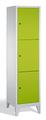 Schließfachschrank 8010-123, mit Füßen 3 Fächer, Abteilbreite 400mm, | günstig bestellen bei assistYourwork