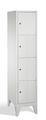 Schließfachschrank 8010-124, mit Füßen 4 Fächer, Abteilbreite 400mm, | günstig bestellen bei assistYourwork