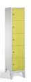 Schließfachschrank 8010-125, mit Füßen 5 Fächer übereinander, Abteilbreite 400mm, | günstig bestellen bei assistYourwork