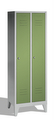 Classic Garderobenspind 8010-20, auf Füßen 2 Abteile, Abteilbreite á 300mm | günstig bestellen bei assistYourwork