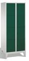 Garderobenfächerschrank 8010-224, mit Füßen, 2x4 Fächer, Abteilbreite 400mm, | günstig bestellen bei assistYourwork
