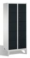 Garderobenfächerschrank 8010-225, mit Füßen, 2x5 Fächer, Abteilbreite 400mm, | günstig bestellen bei assistYourwork