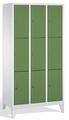 Schließfachschrank 8010-303, mit Füßen 3x3 Fächer, Abteilbreite 300mm, | günstig bestellen bei assistYourwork