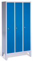 Classic Garderobenschrank 8010-30, auf Füßen 3 Abteile, Abteilbreite á 300mm | günstig bestellen bei assistYourwork