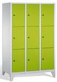 Wertsachenschrank 8010-323, mit Füßen 3x3 Fächer, Abteilbreite 400mm, | günstig bestellen bei assistYourwork