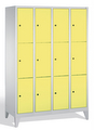 Schließfachschrank 8010-403, mit Füßen 4x3 Fächer, Abteilbreite 300mm, | günstig bestellen bei assistYourwork