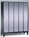 Classic Garderobenspind 8010-50, auf Füßen 5 Abteile, Abteilbreite á 300mm | günstig bestellen bei assistYourwork
