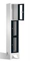 Fächerschrank 8010A103, Stahltüren mit Sichtfenstern 3 Fächer, Abteilbreite 300mm, auf Füßen | günstig bestellen bei assistYourwork