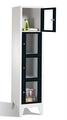 Sichtfensterschrank 8010A124, 4 Fächer, Abteilbreite 400mm, auf Füßen | günstig bestellen bei assistYourwork