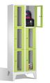 Fächerschrank 8010A203, Stahltüren mit Sichtfenstern 6 Fächer, Abteilbreite 300mm, auf Füßen | günstig bestellen bei assistYourwork