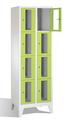 Fächerschrank 8010A204, Stahltüren mit Sichtfenstern 8 Fächer, Abteilbreite 300mm, auf Füßen | günstig bestellen bei assistYourwork