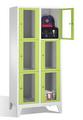 Fächerschrank 8010A223, Stahltüren mit Sichtfenstern 6 Fächer, Abteilbreite 400mm, auf Füßen | günstig bestellen bei assistYourwork