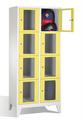 Fächerschrank 8010A224, Stahltüren mit Sichtfenstern 8 Fächer, Abteilbreite 400mm, auf Füßen | günstig bestellen bei assistYourwork