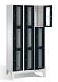 Sichtfensterschrank 8010A303, 9 Fächer, Abteilbreite 300mm, auf Füßen | günstig bestellen bei assistYourwork